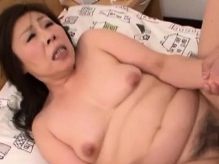 Pretty mature chick gets splintered and drilled roughly