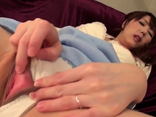 Rei Furuse moans during superb home solo scenes