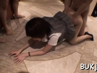 Japanese chick gets masked dude to roughly enjoyment from say no to cum-hole