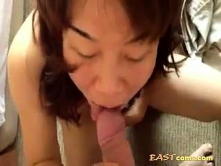 mature Japanese Wife sucking