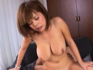 Engaging Airu Oshima roughly massive tits getting nailed